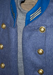 Cadet Gray Double Breasted Officer Frock Coat Infantry  - Frock Coats