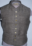 Sow Brown Satinette Military Style Vest - Vests