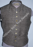 Economy Sow Brown Jean Cloth Military Style Vest - Economy