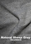 Natural Sheep Gray Cassimere Commutation Jacket - Jackets