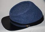 Cadet Gray Broadcloth Militia Kepi - In stock Items