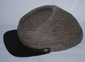 Sow Brown Satinete Kepi - Kepis
